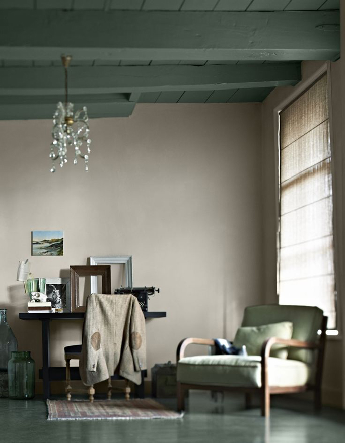 Olijf groen in huis inspiraties for Interieur kleuren voorbeelden