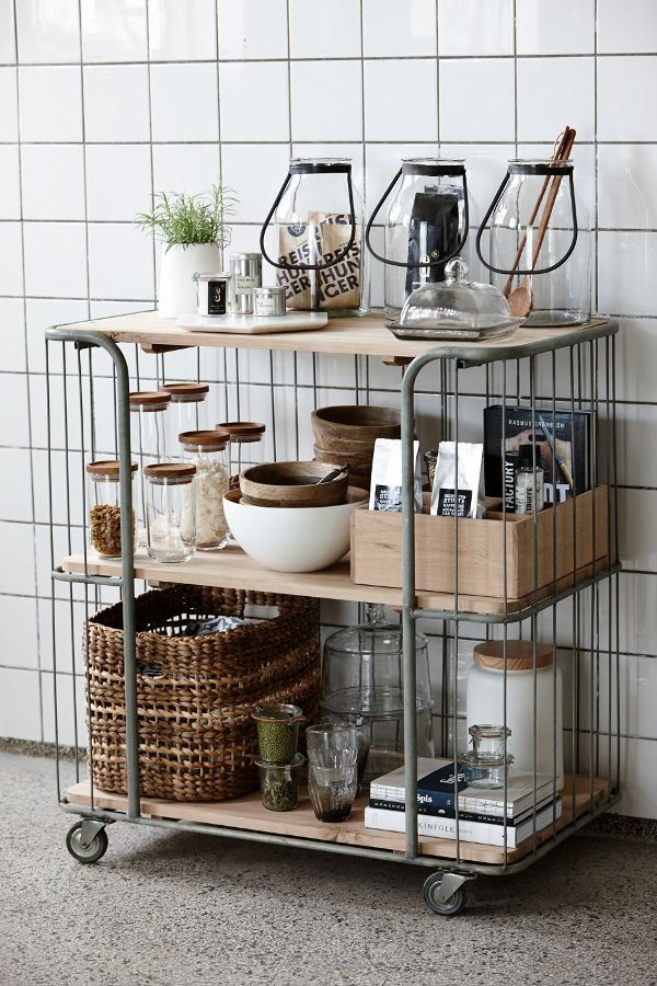 Keuken Opberg Ideeen : Rustic Kitchen Islands Storage Cart