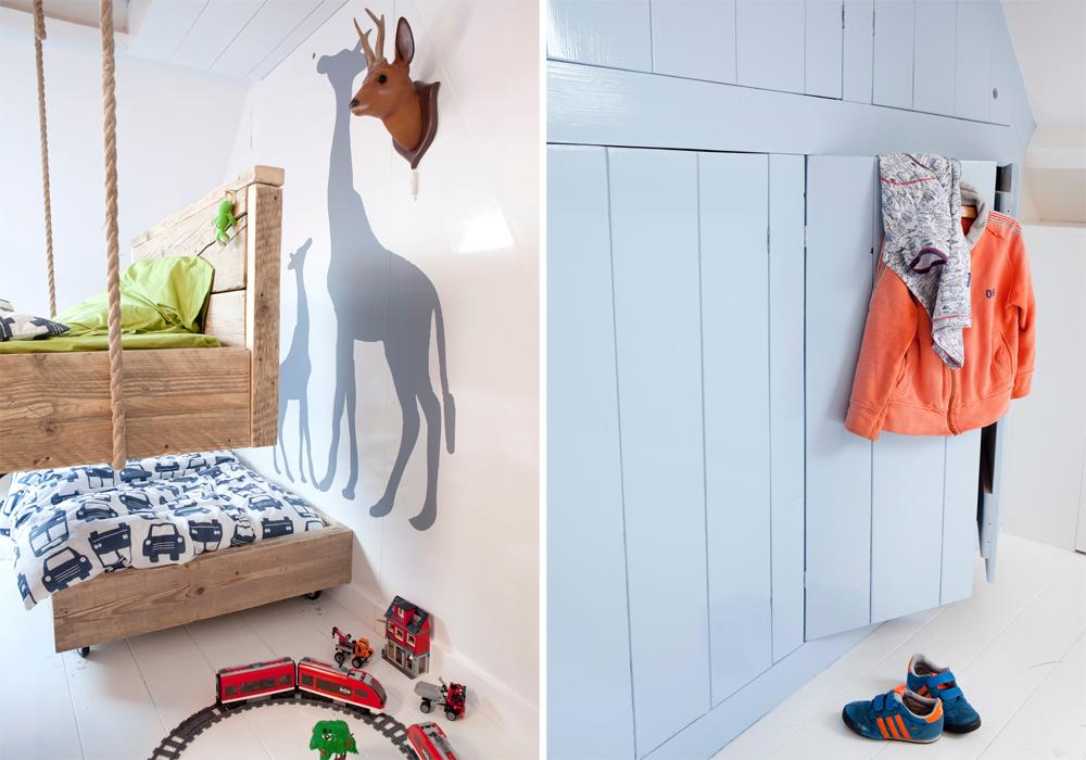 Klimtouwen in de kinderkamer inspiraties - Midden kamer trap ...