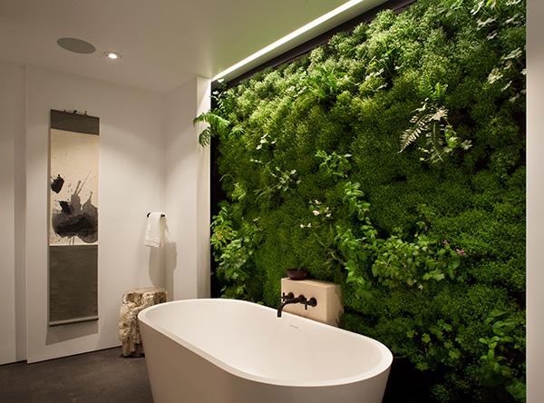 Natuur in de badkamer