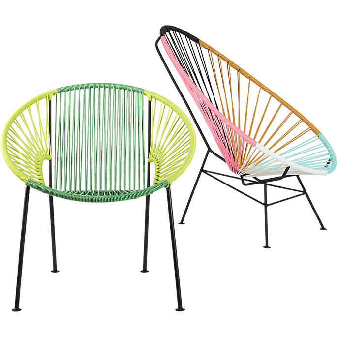 Acapulco lounge chair is gemaakt in mexico en je koopt m o a hier cb2