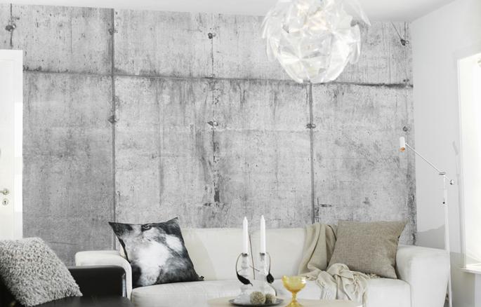 behang op stenen muur  consenza for ., Meubels Ideeën