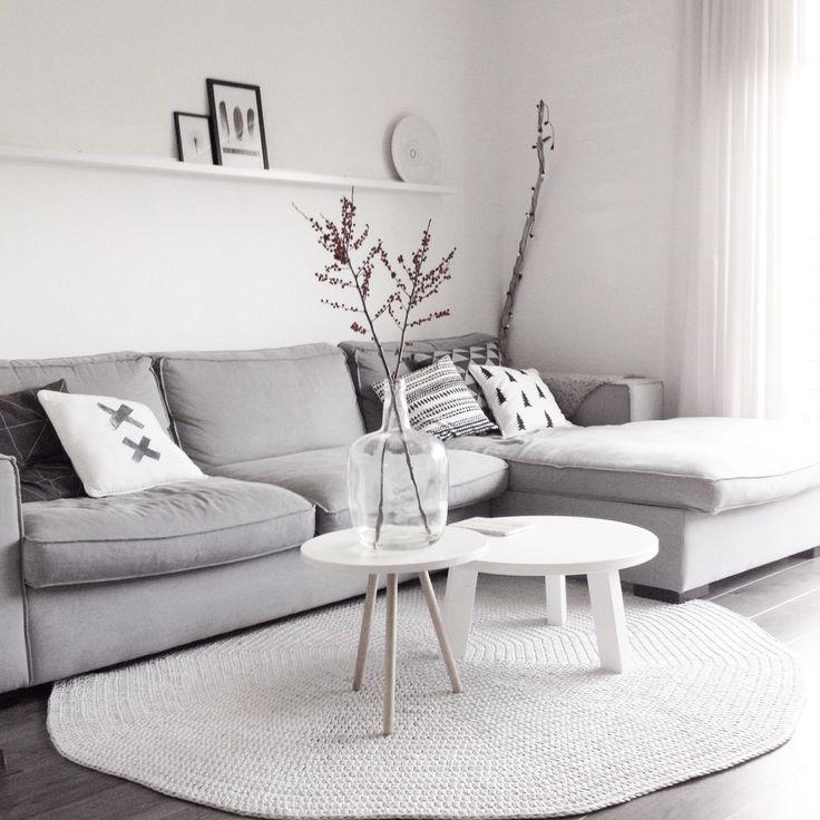 Hoekbank met kleed de populairste idee n over grijze banken op lounge woontrends bekijken - Grijze lounge taupe ...