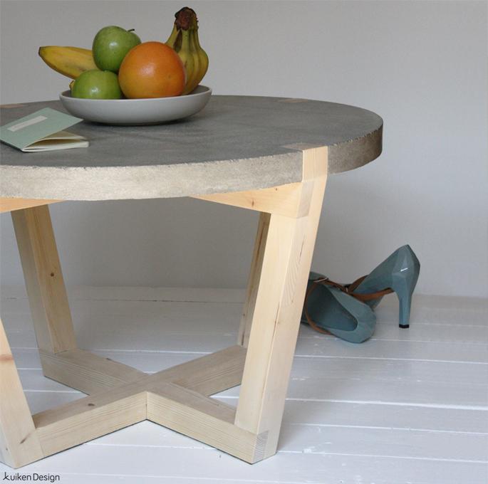 Salontafel met betonnen blad inspiraties - Centrale eiland houten keuken ...