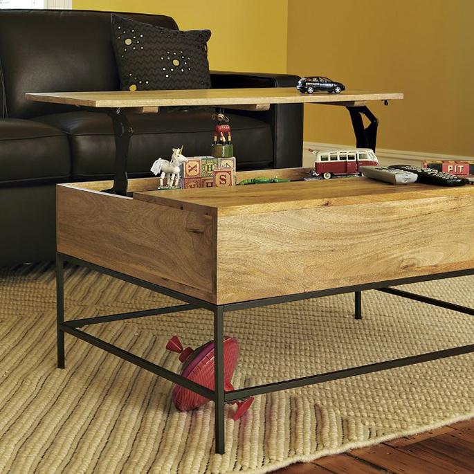 Low Coffee Table With Storage: Salontafel Met Opbergruimte