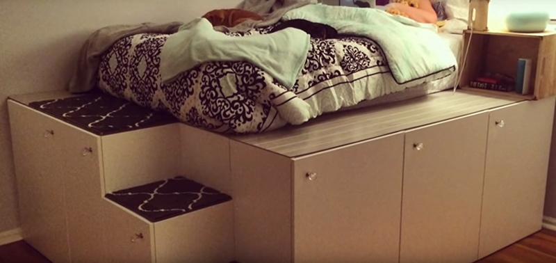 Maak een bed van keukenkastjes van IKEA - Inspiraties - ShowHome.nl