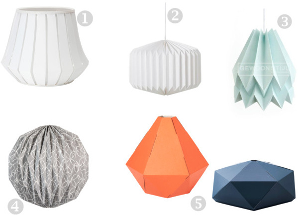 Origami Lampenkappen Inspiraties Showhome Nl
