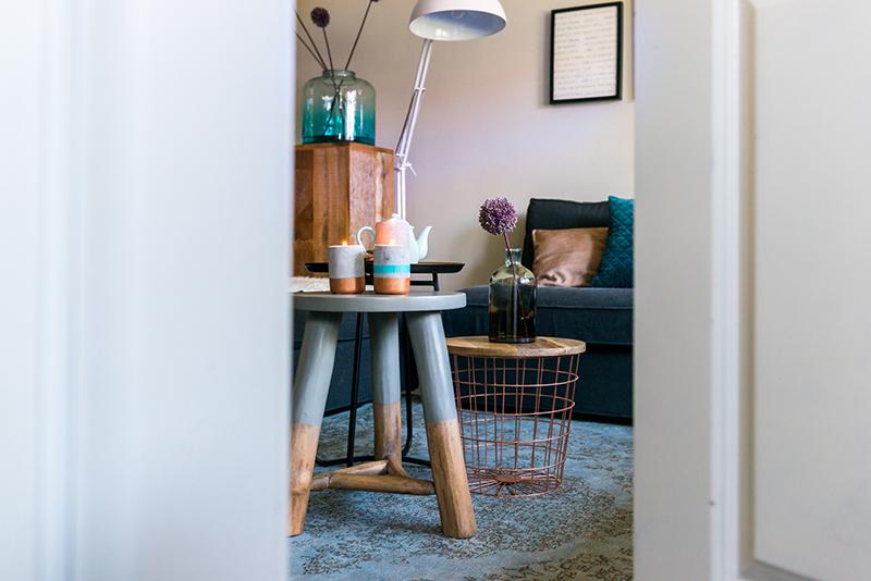 Woontrend blauw inspiraties for Petrol accessoires woonkamer
