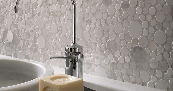 Wit saai inspiraties for Carrelage mural salle de bain porcelanosa