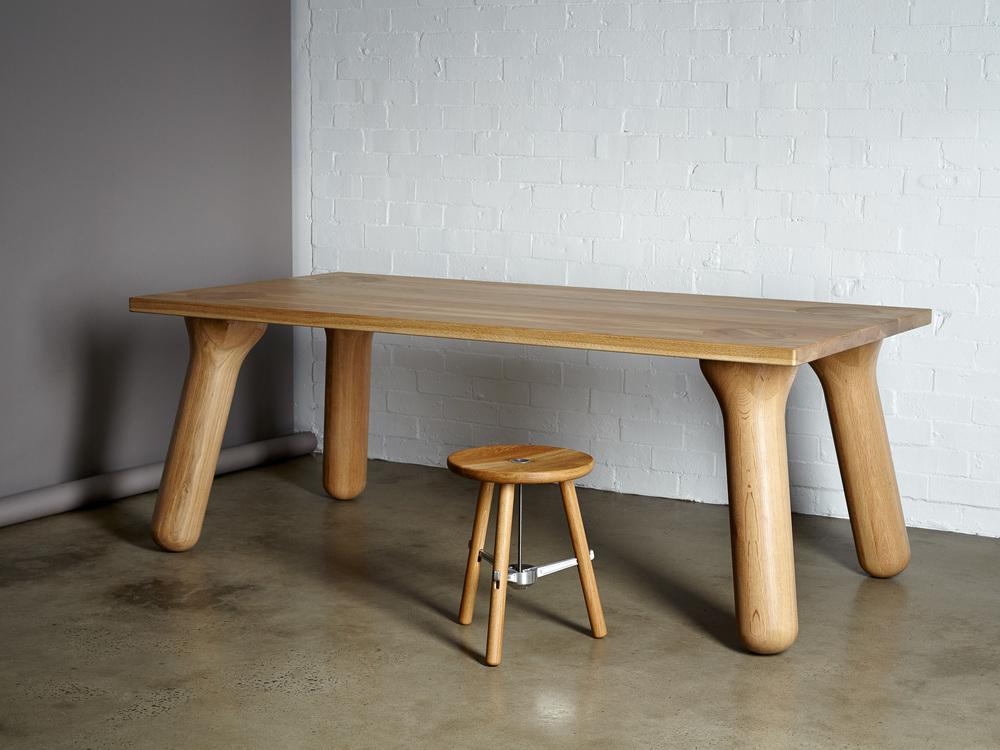 Bekend Stoere houten eettafel - Big Foot - Inspiraties - ShowHome.nl &UT87