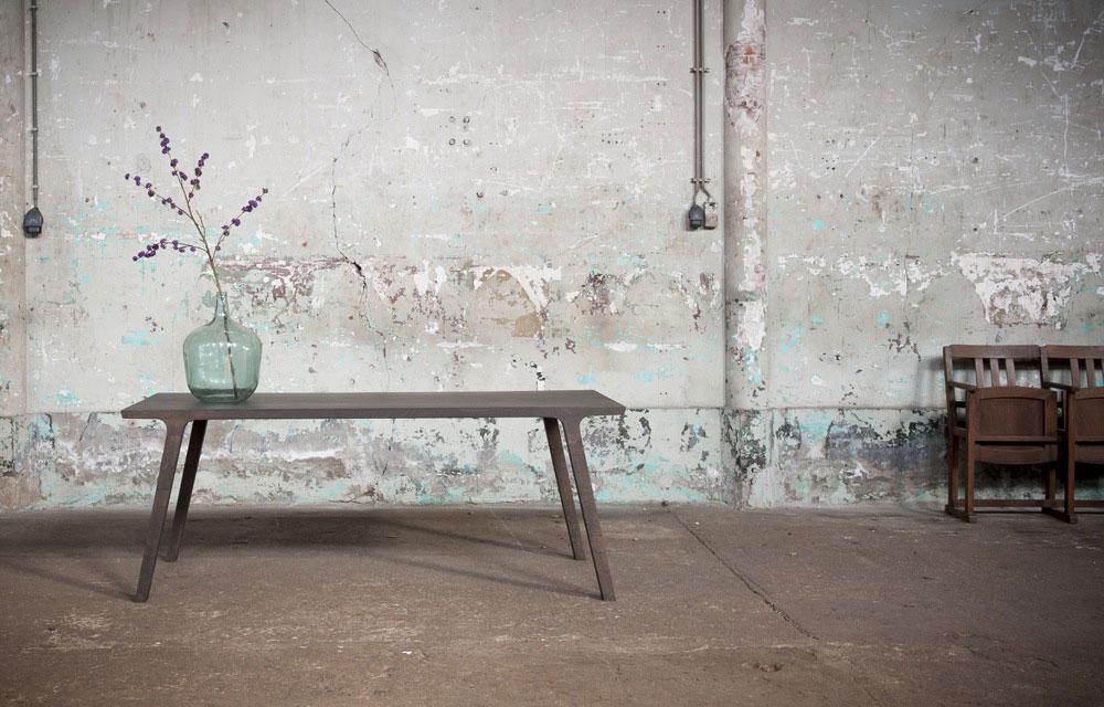 Stoere houten tafel uit een stuk inspiraties - Tafel design keuken ...