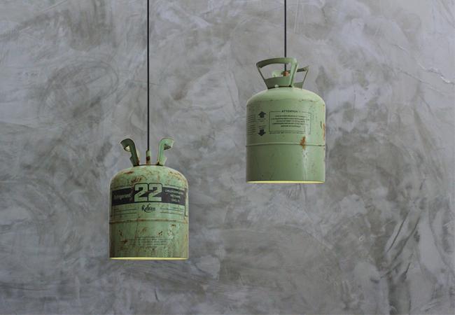 Gebruikte Industriele Lampen : Stoere lamp van hergebruikte materialen inspiraties showhome