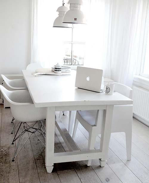 Witte keuken witte muur witte keuken grijze muur vt wonen binnenkijken - Binnenkleuren met witte muur ...