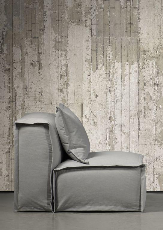 Uniek behang oud hout