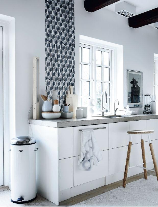 Zwart wit behang keuken – atumre.com