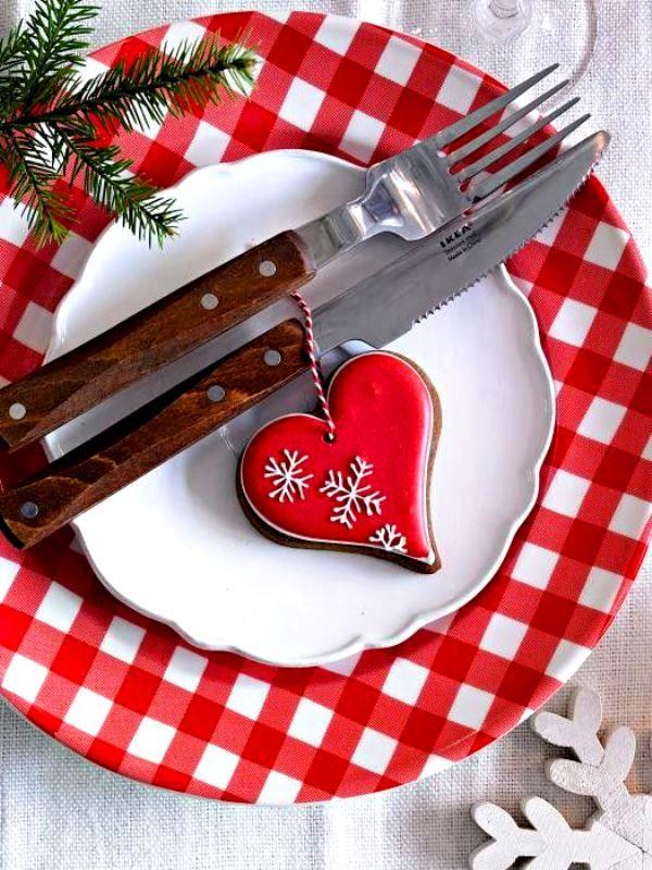 Traditionele kersttafel