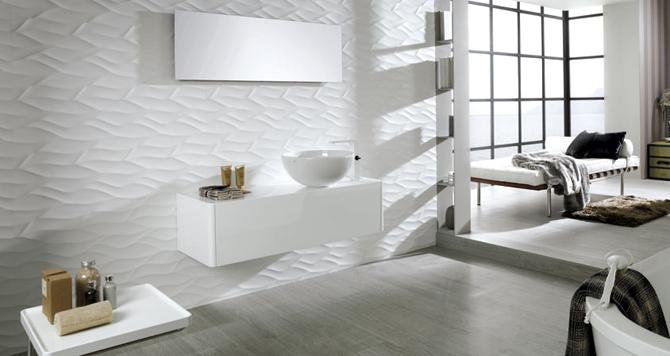 Witte Mozaiek Tegels Keuken : Witte tegels met golf effect
