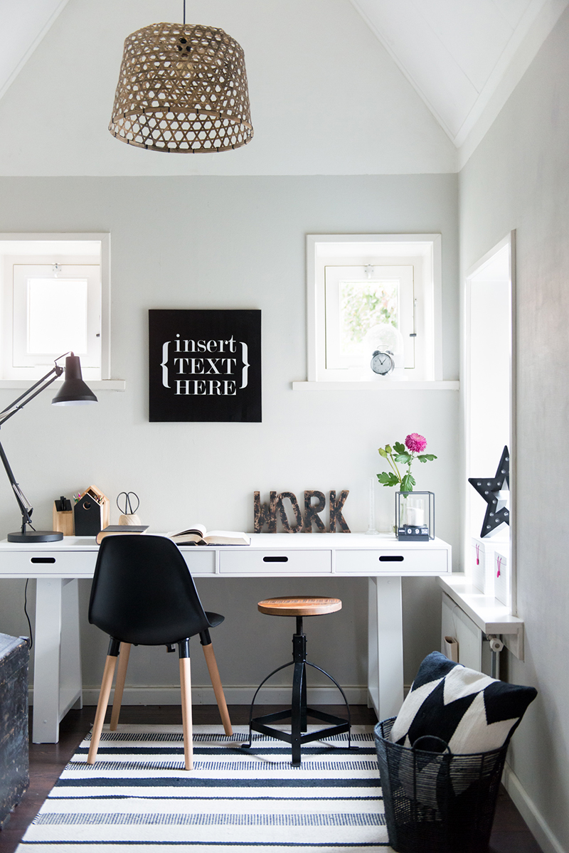 Woontrend zwart wit inspiraties - Trend schilderij slaapkamer ...