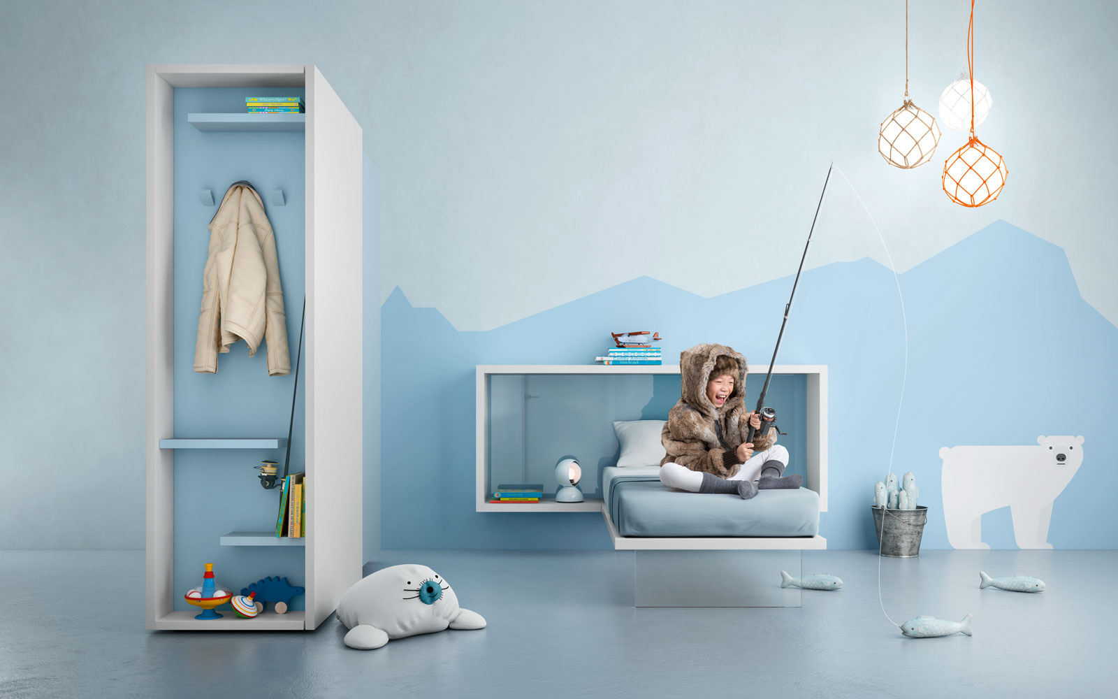 Zwevend kinderbed inspiraties showhome.nl