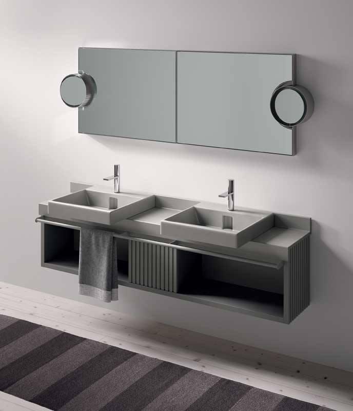 Sanitair en badkamermeubels van keramiek en hout - Inspiraties ...
