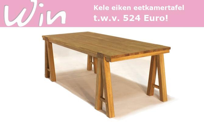 ... TBLS tables verloten we deze Kele eiken eetkamertafel t.w.v. 524 Euro