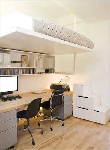 7 X Een Bed En Bureau In Een Kleine Ruimte Inspiraties