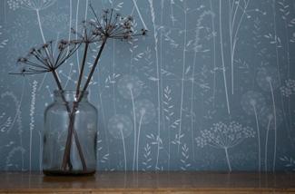 Blog: Behang met bloemen