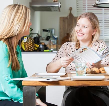 Binnenkijken in de keuken en het huis van Pauline Weuring