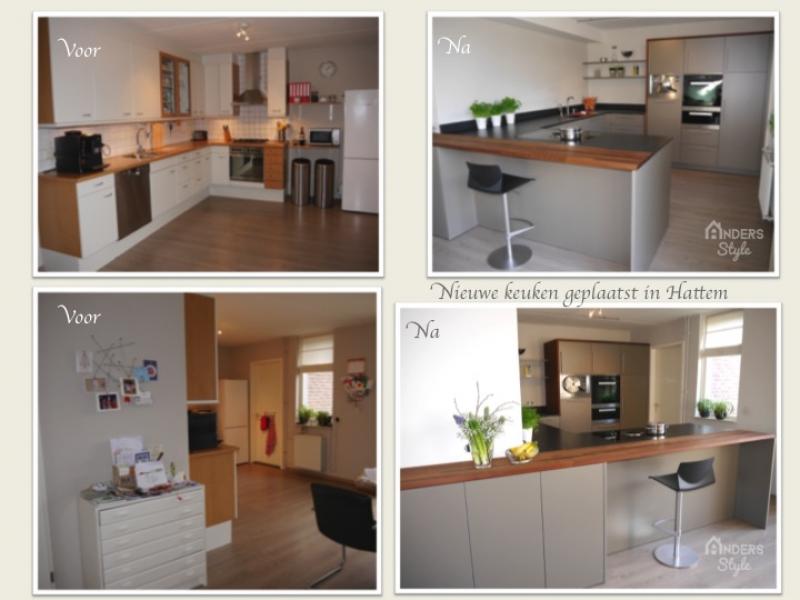 Binnenkijken interieur: Compleet vernieuwd en verrijkt keuken met een schier-kookeiland