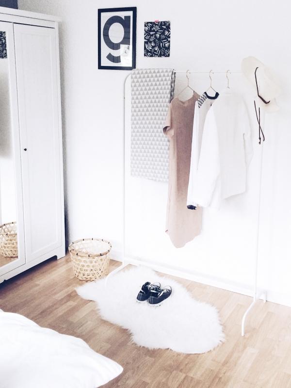 Slaapkamer in scandinavische stijl interieur - Slaapkamer stijl ...