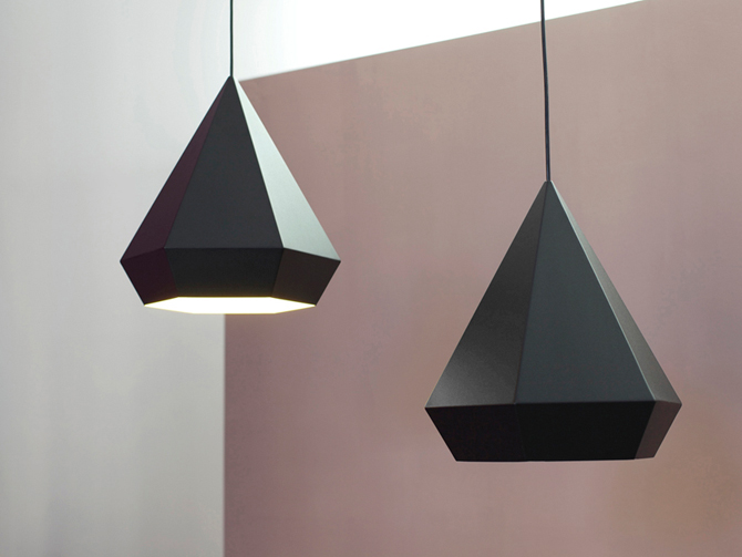 Diamonds lamp in interieur twee stuks