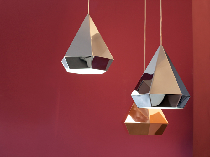 Diamonds lamp in interieur drie stuks