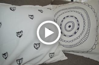 DIY Kussenhoes bestempelen met textielverf