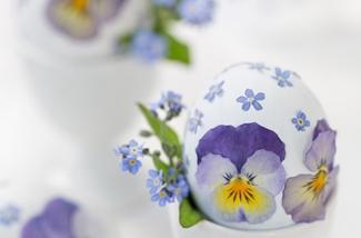 Paaseieren versieren met echte bloemen!