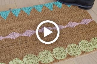 DIY Saaie deurmat opvrolijken