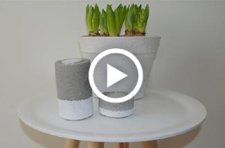DIY waxinelichthouder van cement