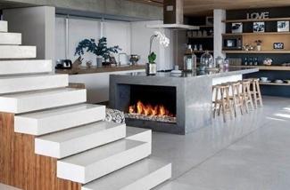 Binnenkijken interieur: Haard in de keuken