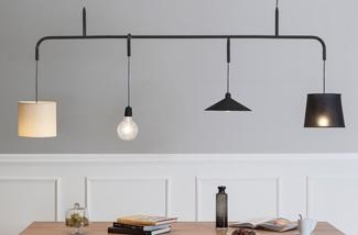 Blog: Hanglamp met verschillende kappen