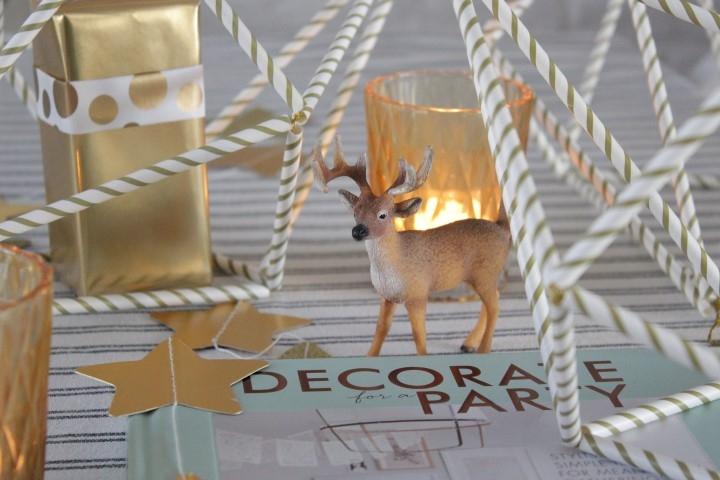 feestelijke Himmeli hangers voor kerstmis