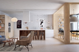 Interieur design uit Rusland