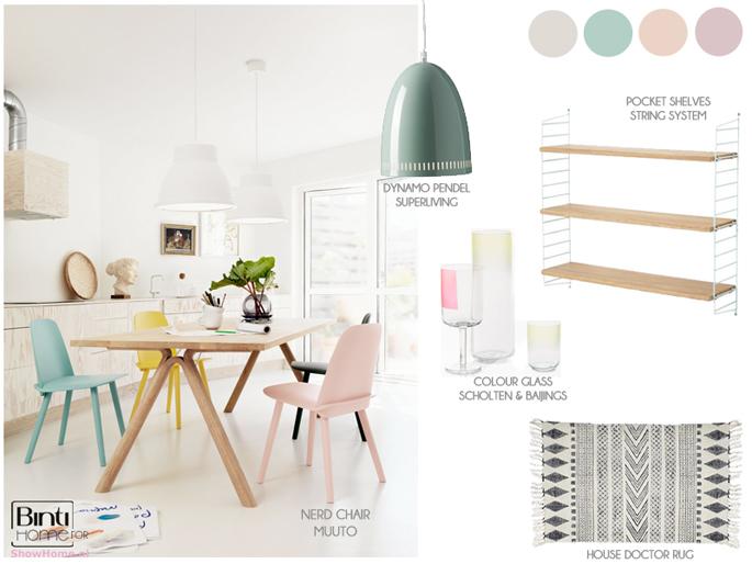 Een interieur met poedertinten en pastelkleuren inspiraties