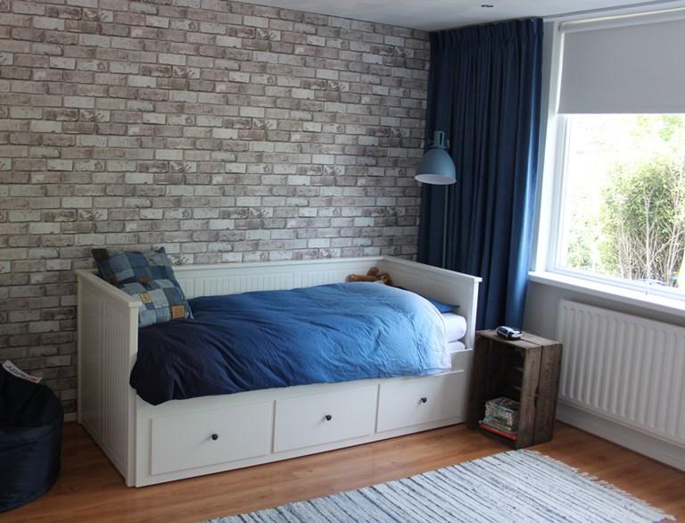 Bijna tienerkamer interieurstylist - Blauwe en grijze jongens kamer ...