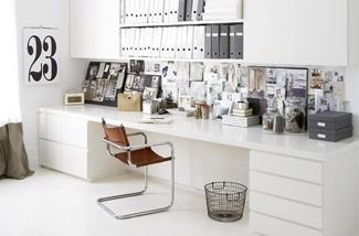 Een lang bureau inspiraties showhome