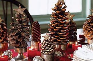 DIY: Kerstboom van dennenappels