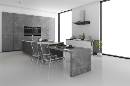 White Keuken Stoere : Een betonnen keuken stoer en robuust inspiraties showhome