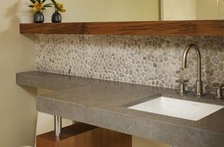 Badkamer Tegels Kiezel : Kiezelstenen vloer badkamer