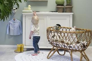 Kinderkamermeubels in pastelkleuren