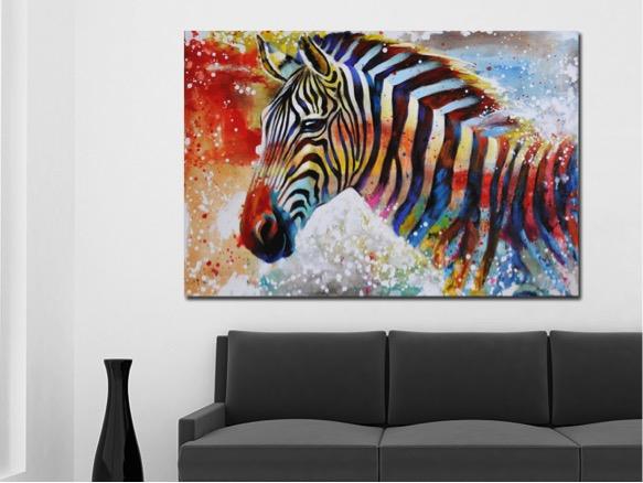 Vrolijke kleurrijke schilderijen voor in huis inspiraties - Moderne kamer volwassen schilderij ...