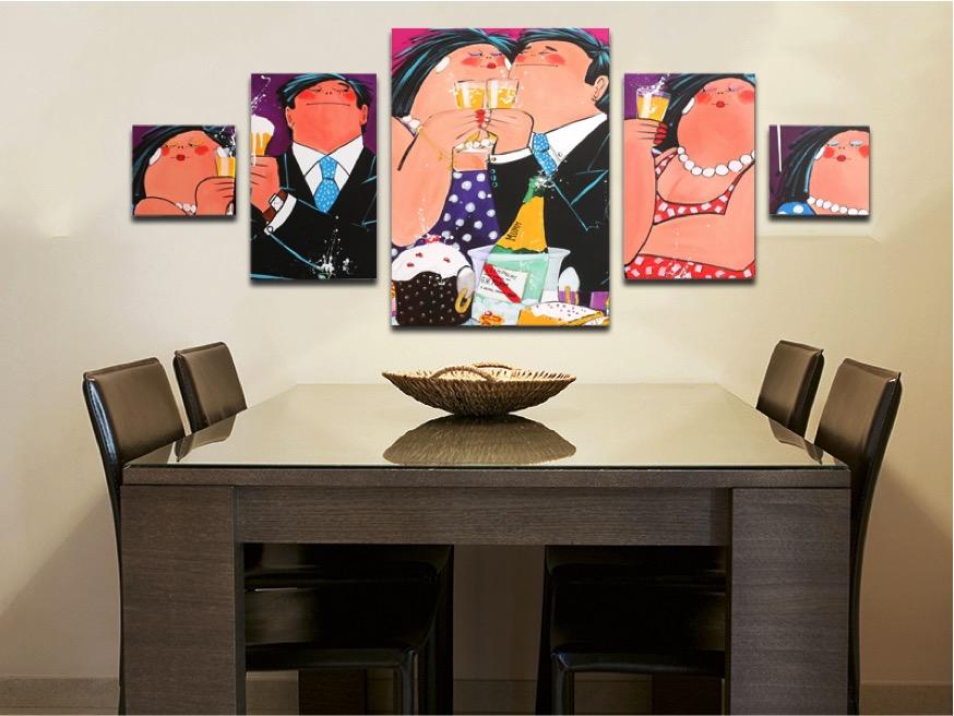 Vrolijke kleurrijke schilderijen voor in huis inspiraties