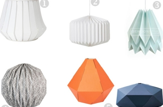 Origami lampenkappen